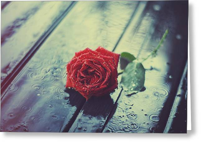 Colorful Flower Greeting Cards - Rain and love Greeting Card by Ashraful Arefin
