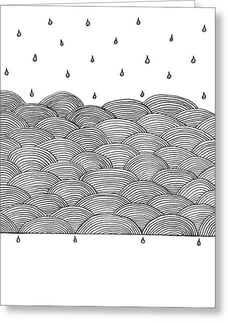 Rain And Sea Greeting Card by Konstantin Sevostyanov