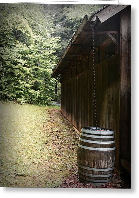 Rain Barrel Digital Art Greeting Cards - Rain Chain Greeting Card by Gary Conner