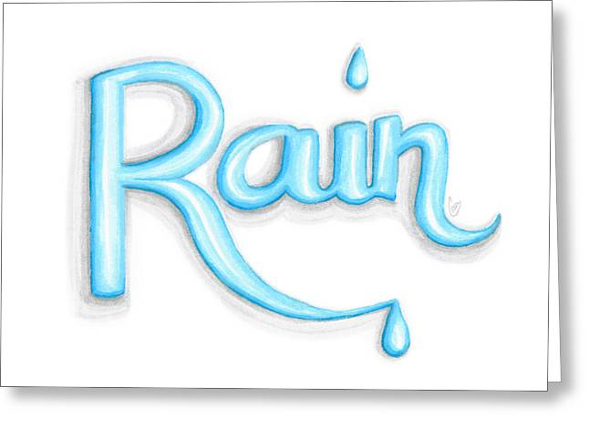 Rain Greeting Card by Cindy Garber Iverson