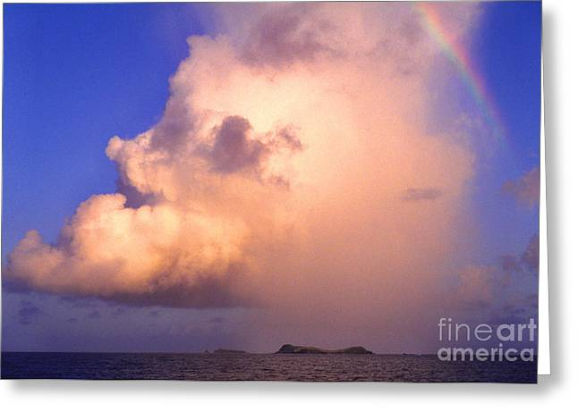 Rain Cloud and Rainbow Greeting Card by Thomas R Fletcher