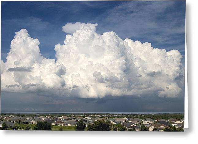 Rain Clouds Over Lake Apopka Greeting Card by Carl Purcell