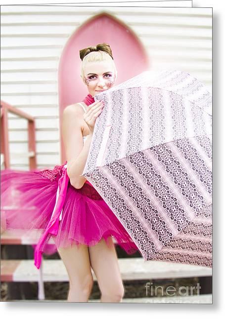 Shyness Greeting Cards - Rain Dance Greeting Card by Ryan Jorgensen