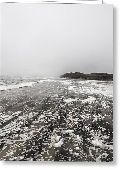 Rain Fog And Wind Seascape Greeting Card by Jorgo Photography - Wall Art Gallery