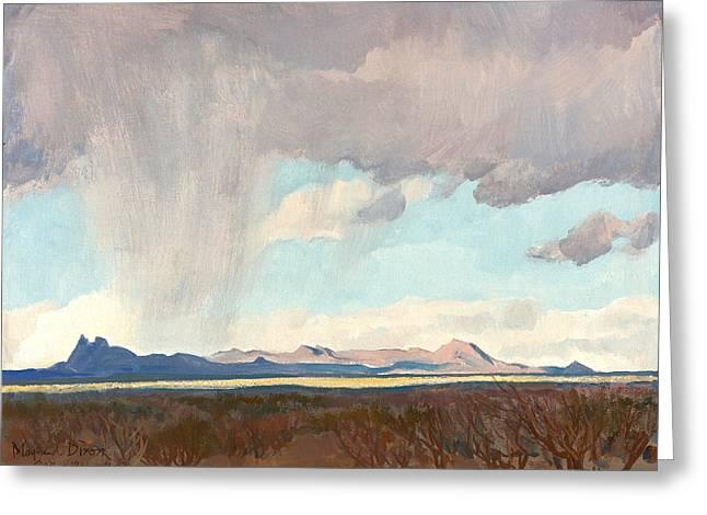 Rain For The Gulf Greeting Card by Maynard Dixon