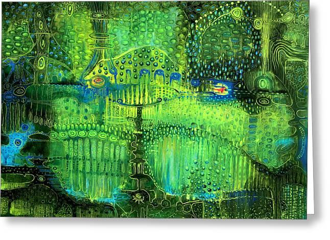Rain Land II Greeting Card by Lolita Bronzini