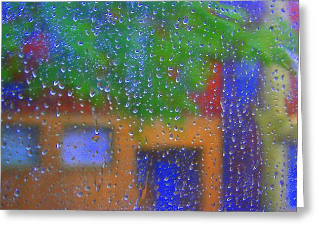 Go Away Greeting Cards - Rain Rain Go Away Greeting Card by Julie Lueders
