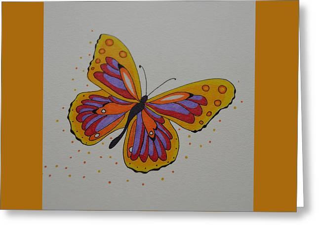 Rainbow Fantasy Art Greeting Card Greeting Cards - Rainbow Butterfly Greeting Card by Sharon Bernacki