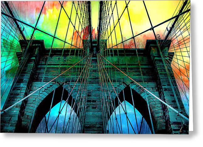 Rainbow Ceiling  Greeting Card by Az Jackson