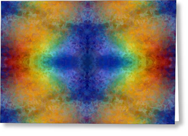 Sacred Tapestries - Textiles Greeting Cards - Rainbow Dreams Greeting Card by Suzi Freeman