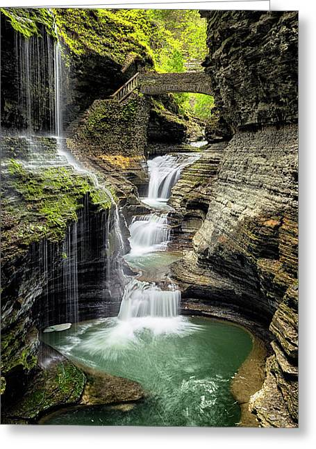 Rainbow Falls Gorge Greeting Card by Stephen Stookey