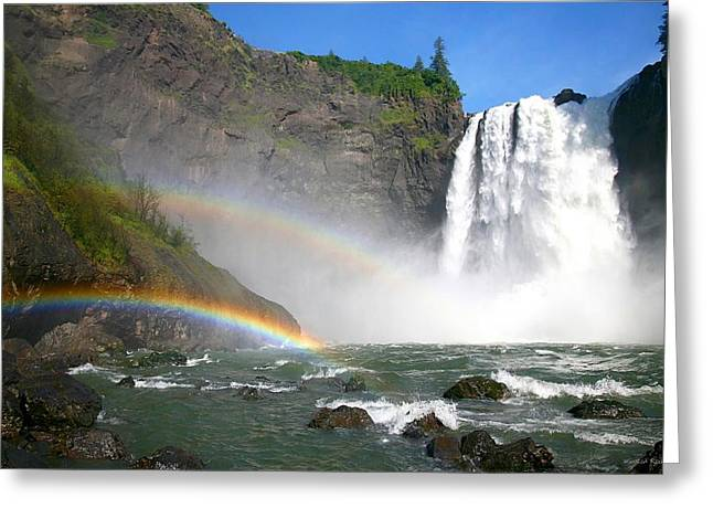 Rainbow River Greeting Cards - Rainbow Falls Greeting Card by Winston Rockwell