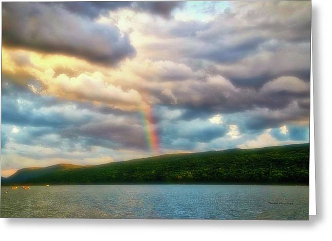 Rainbow Finger Lakes New York Pa Greeting Card by Thomas Woolworth