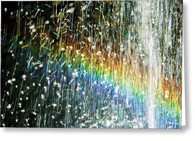 Rainbow Fountain Greeting Card by Francesa Miller
