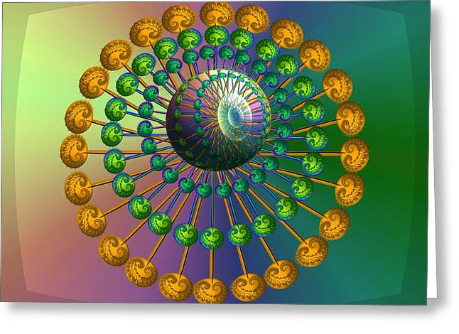 Rainbow Fractal Greeting Card by Vincent Autenrieb