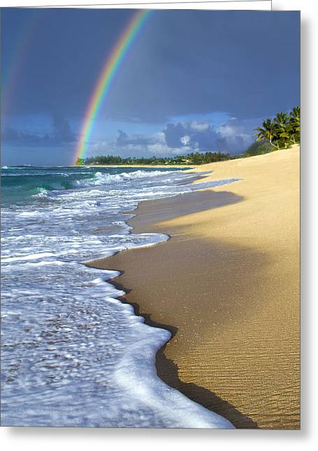 Tropical Photographs Greeting Cards - Rainbow Froth Greeting Card by Sean Davey
