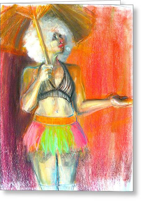 Umbrella Pastels Greeting Cards - Rainbow Greeting Card by Gabrielle Wilson-Sealy