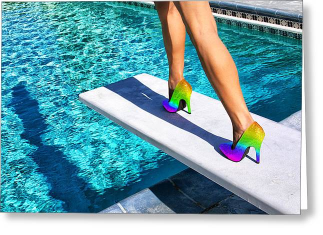 Equality Greeting Cards - RAINBOW HEELS Palm Springs Greeting Card by William Dey