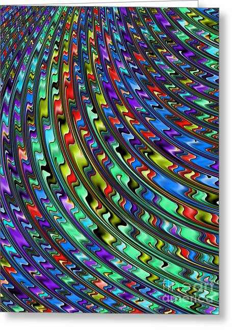 Rainbow In Abstract 01 Greeting Card by John Edwards