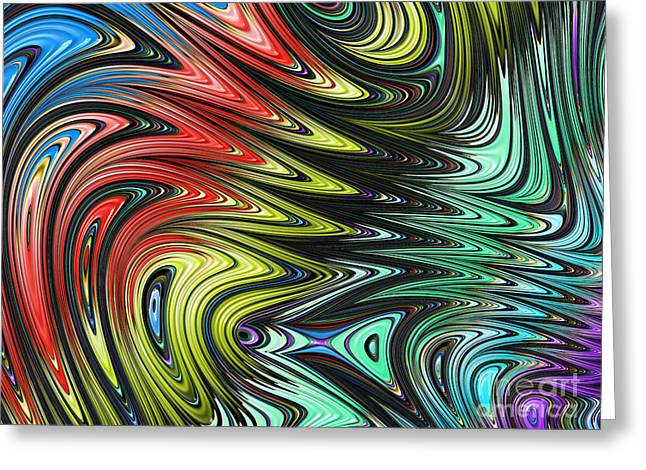 Metalic Greeting Cards - Rainbow in Abstract 05 Greeting Card by John Edwards