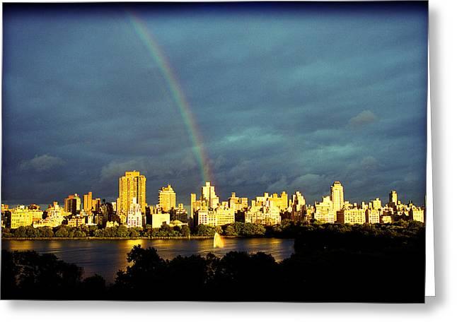 Ariane Moshayedi Greeting Cards - Rainbow in the City Greeting Card by Ariane Moshayedi