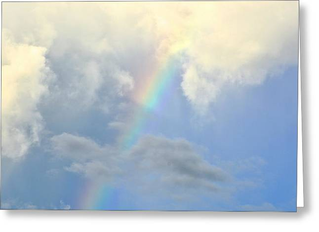 Dream Scape Greeting Cards - Rainbow in the Clouds Greeting Card by Amy McDaniel