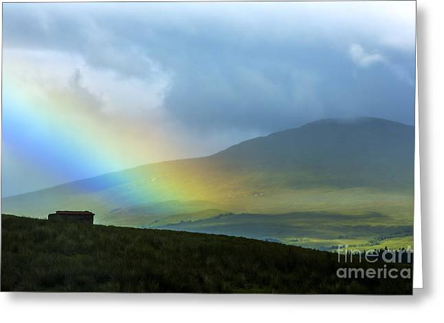 Rainbow In The Scottish Highlands Greeting Card by Diane Diederich