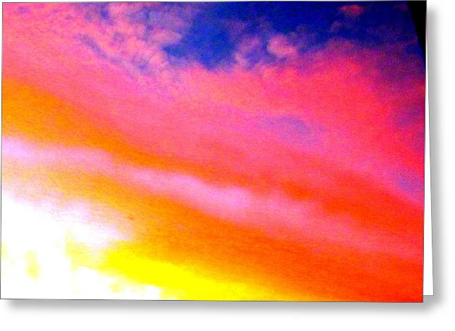 Greeting Cards - Rainbow in the Sky Greeting Card by Joyce Woodhouse