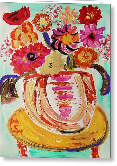 Rainbow In The Vase Greeting Card by Mary Carol Williams