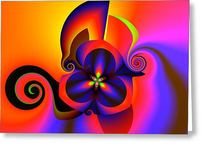 Algorithmic Greeting Cards - Rainbow infusion Greeting Card by Claude McCoy
