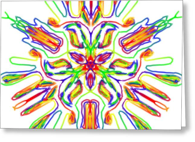 Rainbow Kalidie Greeting Card by Blue Doves