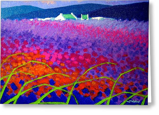 Vincent Paintings Greeting Cards - Rainbow Meadow Greeting Card by John  Nolan