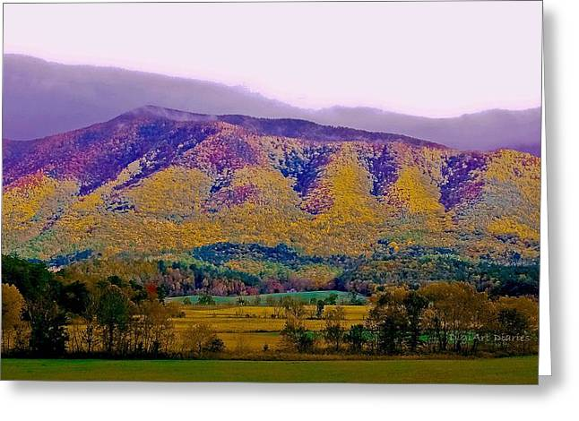 Rainbow Mountain Greeting Card by DigiArt Diaries by Vicky B Fuller