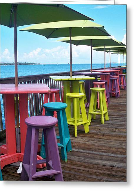 Tropical Beach Greeting Cards - Rainbow of Keys Greeting Card by Chris Andruskiewicz