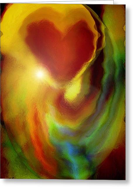 Abstract Expressions Greeting Cards - Rainbow of Love Greeting Card by Linda Sannuti
