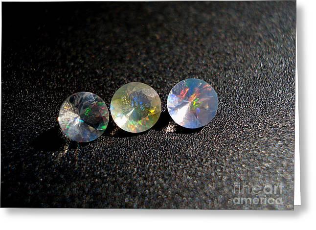 Rainbow Opal Greeting Card by Neon Flash
