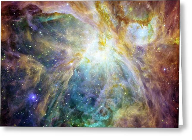 Astrophoto Greeting Cards - Rainbow Orion 2 Greeting Card by Nomad Art And  Design