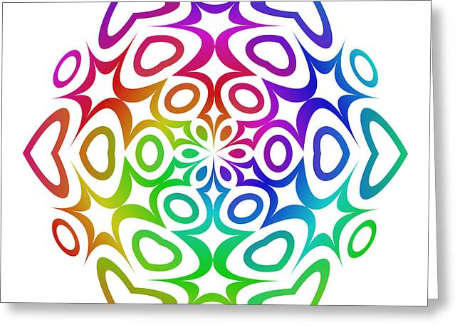 Multicolor Digital Greeting Cards - Rainbow ornament Greeting Card by David Zydd