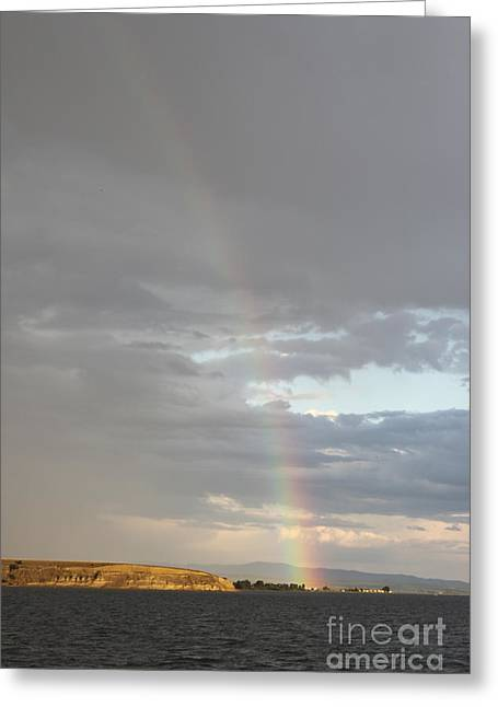 Rainbow Over Canyon Ferry Lake 2 Greeting Card by Carolyn Brown