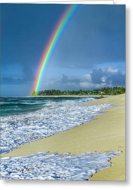 Rainbow Point Greeting Card by Sean Davey