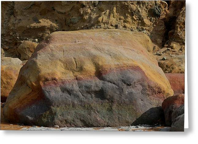 California Beaches Greeting Cards - Rainbow Rock  Greeting Card by Christy Pooschke