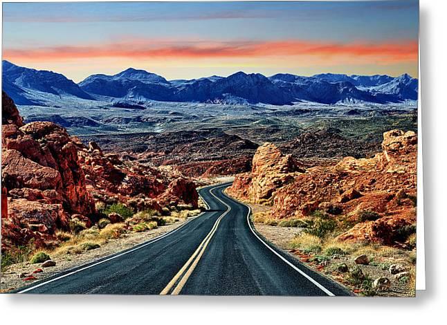 Roadway Greeting Cards - Rainbow Rocks Greeting Card by Renee Sullivan