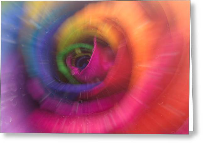 Beauty Mark Greeting Cards - Rainbow Rose Greeting Card by Mark Johnson