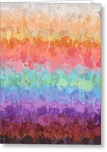 Rainbow Splash Greeting Card by Art Spectrum