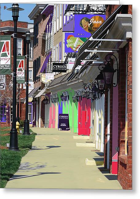 Spring Pastels Greeting Cards - Rainbow Street Greeting Card by Steavon Horne