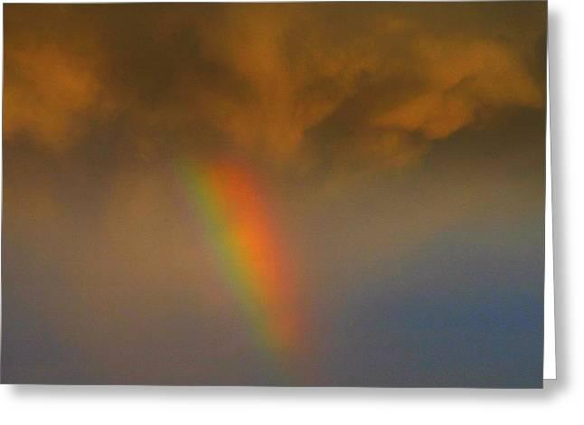 Fulfilled Greeting Cards - Rainbow tornado.. Greeting Card by Al  Swasey