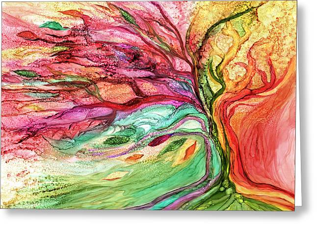 Rainbow Tree Greeting Card by Carol Cavalaris