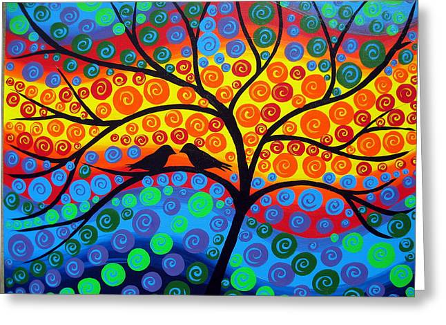 Rainbow Tree Greeting Card by Cathy Jacobs