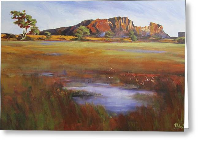 Rainbow Valley  Australia Greeting Card by Chris Hobel