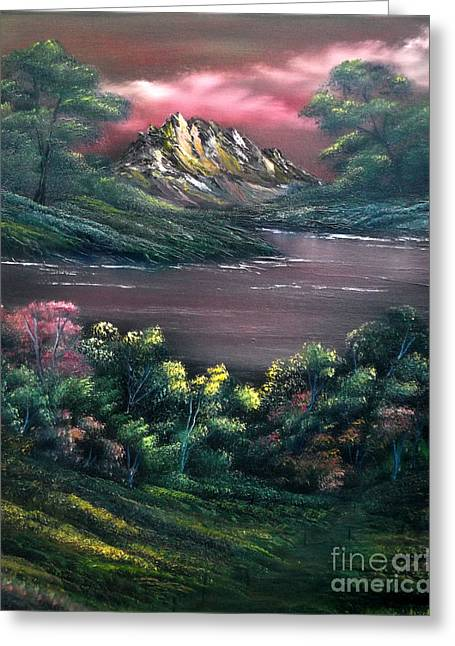 Mystical Landscape Greeting Cards - Rainbow Valley Greeting Card by Cynthia Adams